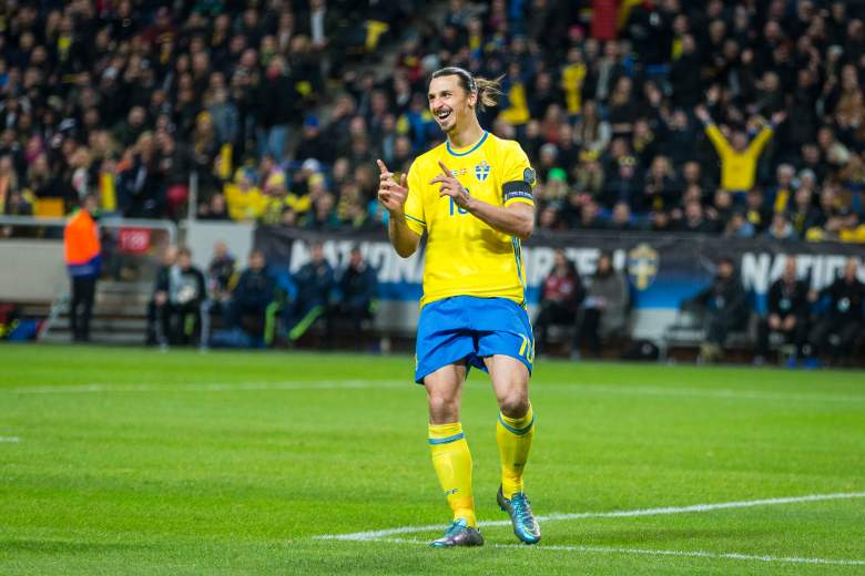 Zlatan Ibrahimovic was on target for Sweden in the 2-0 victory on November 14, 2015, moving the side closer to the European Championship. (Getty)