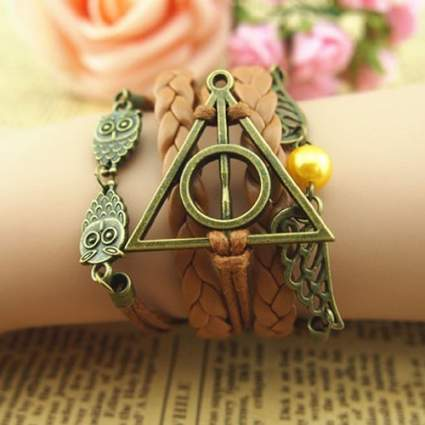 harry potter christmas gift jewelry bracelet deathly hallows best gift golden snitch