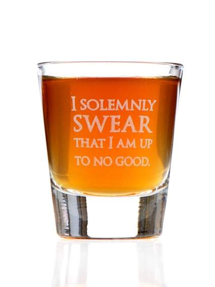 harry potter best gift present christmas i solemly swear i am up to no good shot glass hogwarts