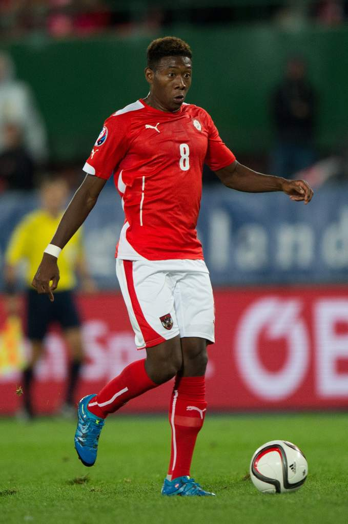 Austria will rely on Bayern Munich defender David Alaba in the 2016 UEFA European Championships in France. Getty