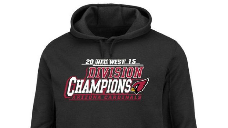 arizona cardinals nfc west division champions 2015 gear
