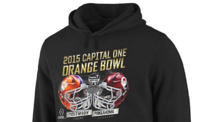 clemson orange bowl gear hoodies shirts