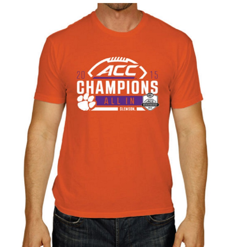 clemson acc championship gear shirts