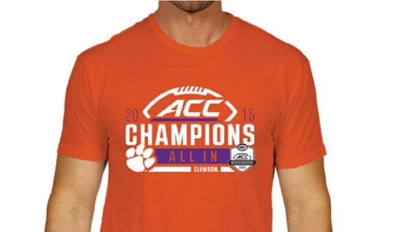 clemson acc championship gear apparel