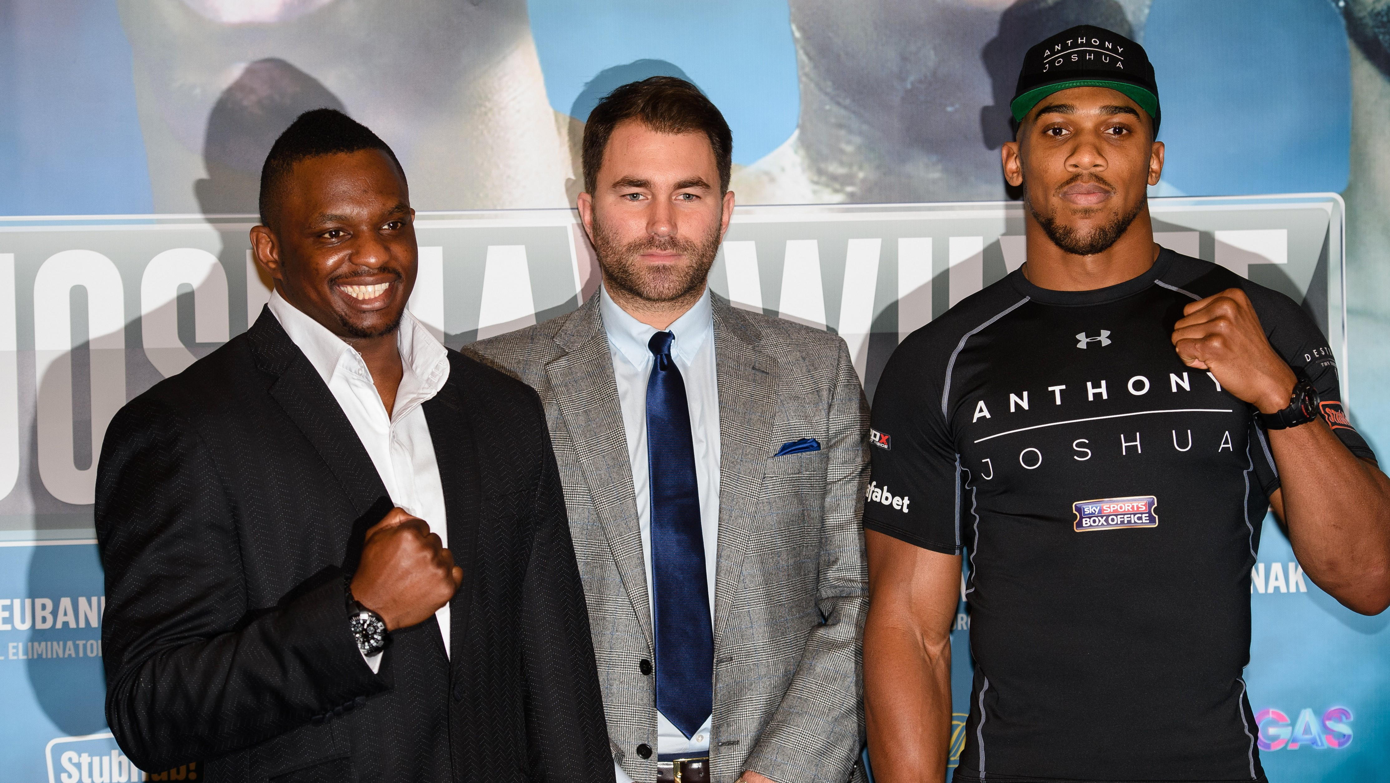 British boxer Anthony Joshua Dillian Whyte face off tonight. Here is how to order the fight. (Getty)