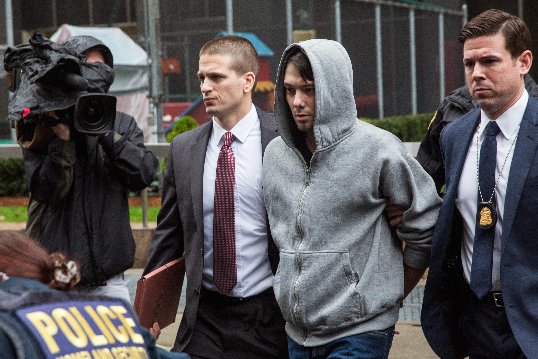 Martin Shkreli arrested, martin shkreli perp walk, martin shkreli charges