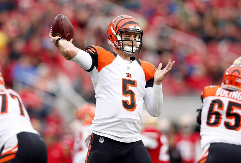 AJ McCarron, Bengals and Broncos, tv channel, television, time, when, where, monday night football