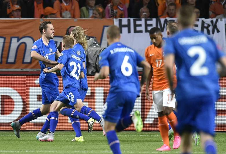 Gylfi Thor Sigurdsson (left) will lead Iceland into the 2016 European Championships in France. Getty
