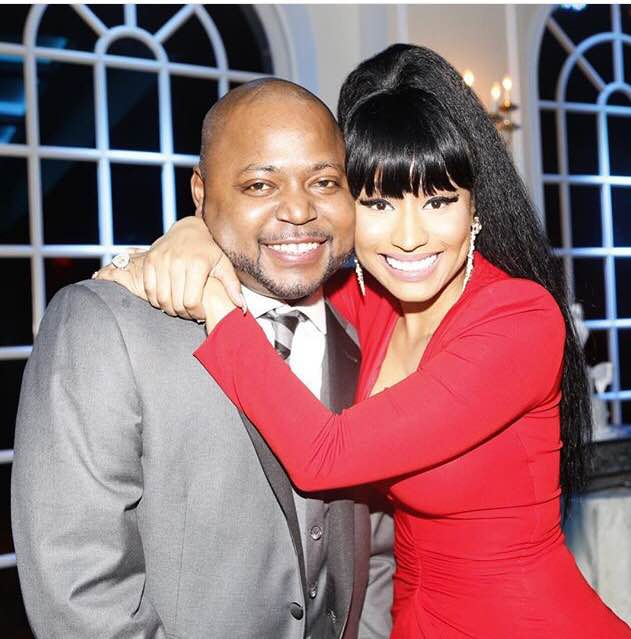 Nicki MInaj with her brother Jelani Maraj at his wedding a few months ago.