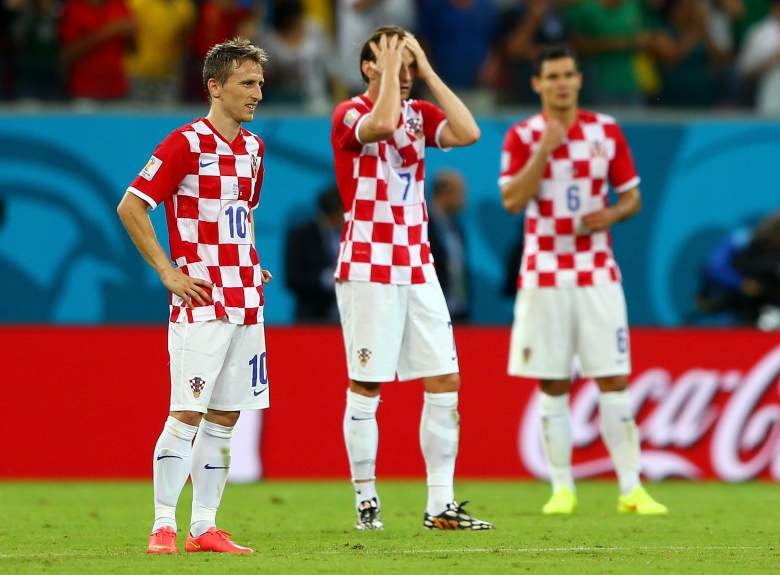 Luca Modric, Ivan Rakitic, and Dejan Lovren were disappointed with Croatia in the 2014 World Cup, but look to lead Croatia in the 2016 European Championship. (Getty)