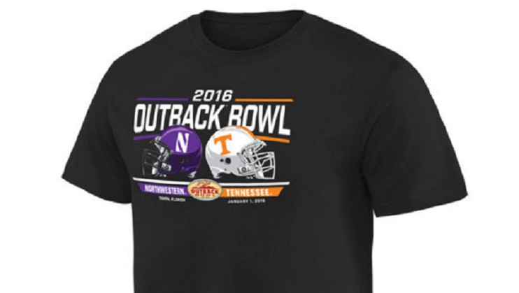 outback bowl gear tennessee northwestern shirts