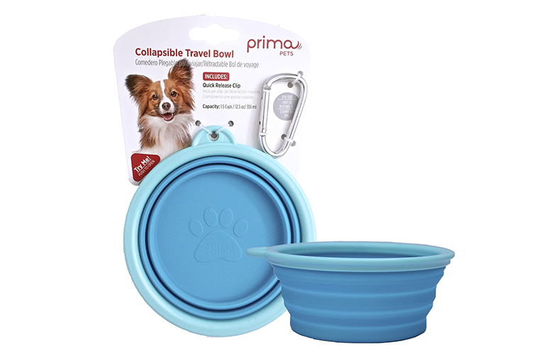 Prima Pet Collapsible Silicone Food and Water Travel Bowl