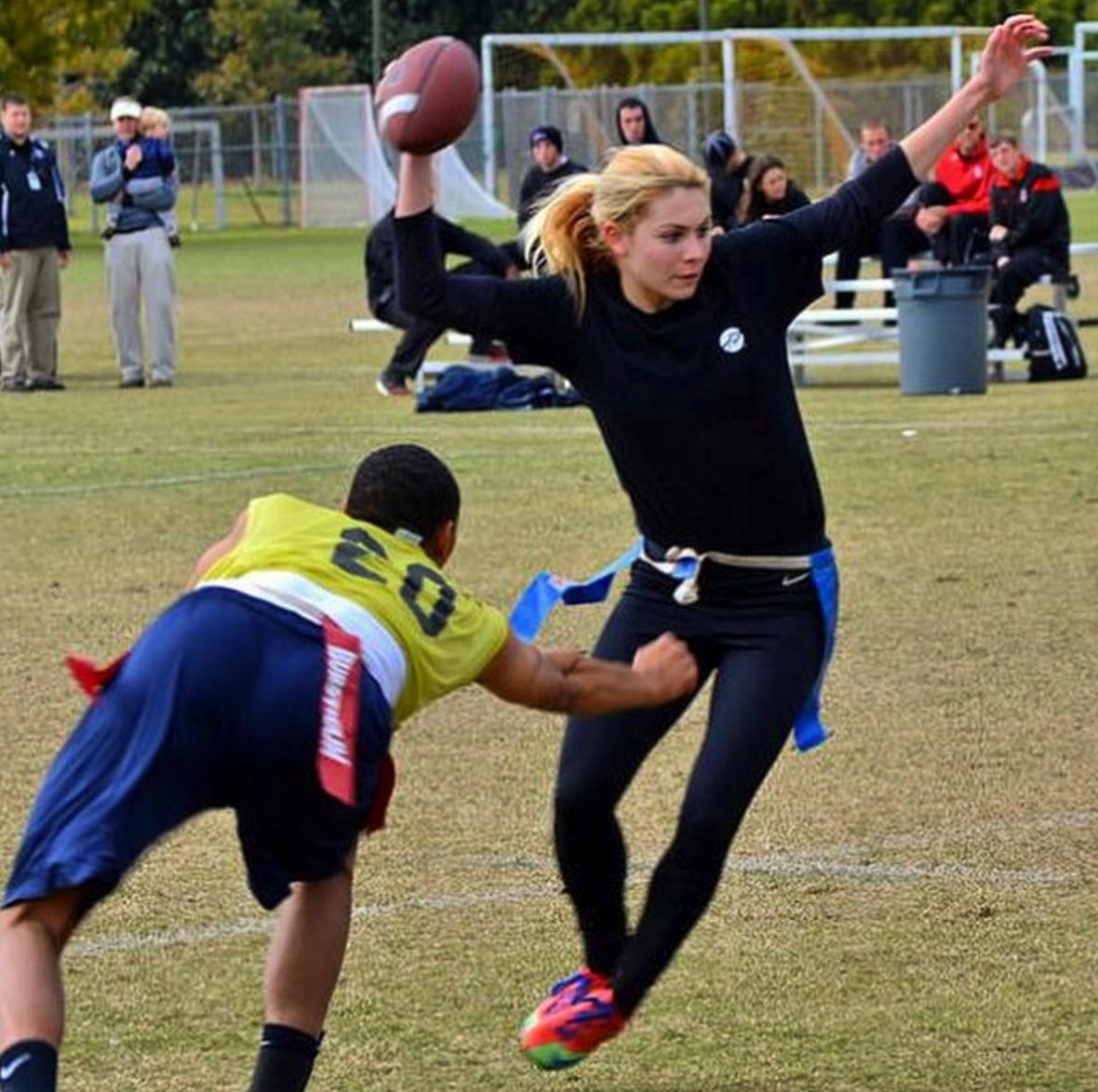 michelle roque, michelle roque fsu flag football, fsu flag girl, florida flag football girl, michelle roque pics, michelle roque football, michelle roque fsu