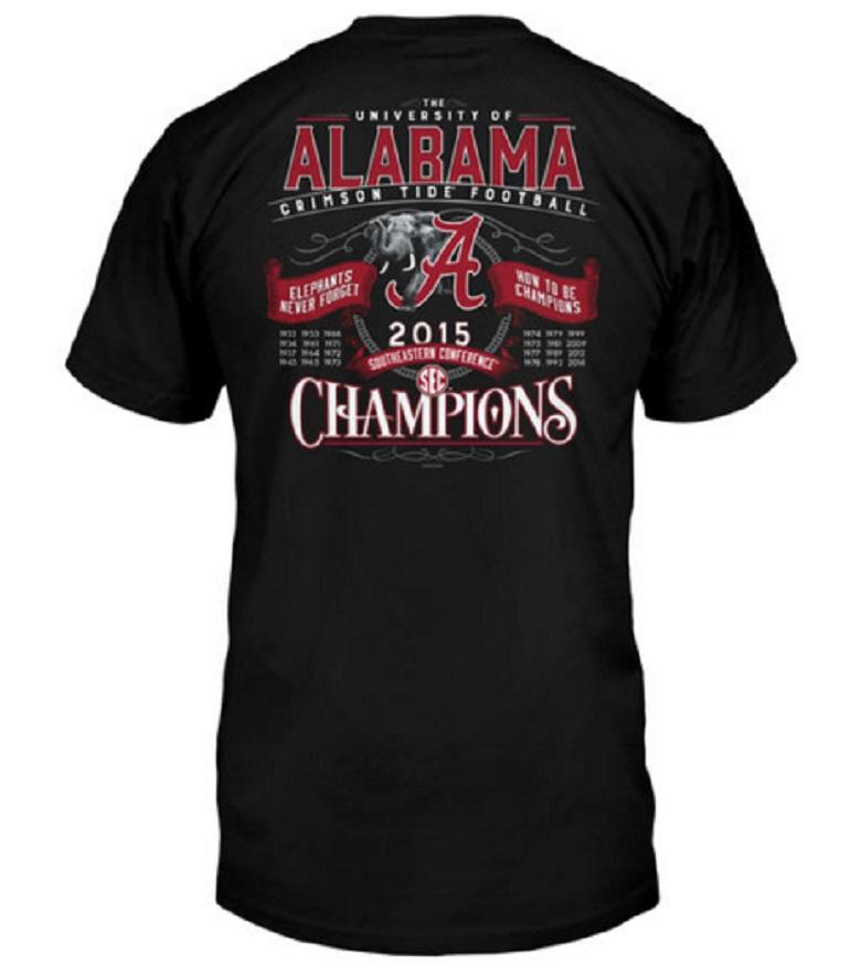 alabama sec championship game gear shirts