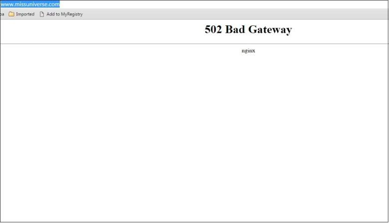 Miss Universe Website Down