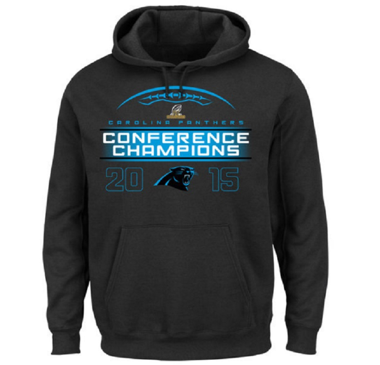 panthers nfc champions gear hoodies