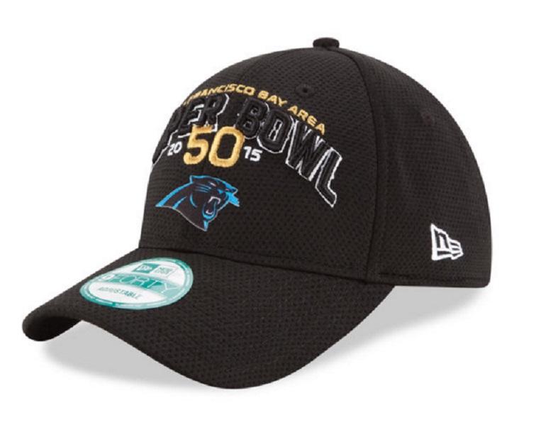 panthers super bowl 50 gear hats