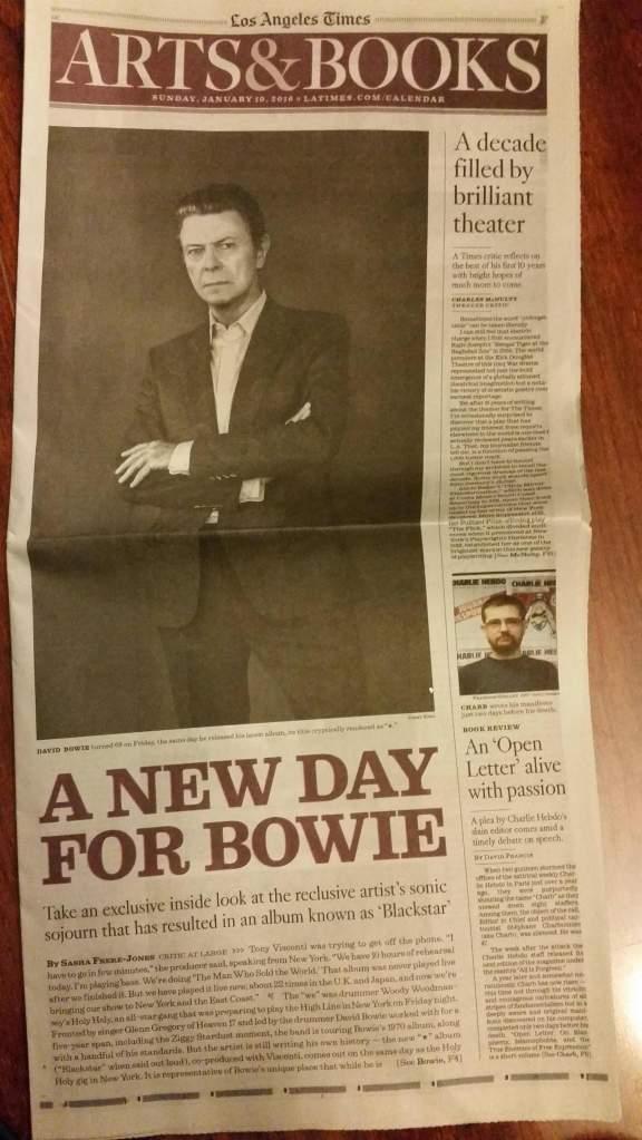 david bowie LA times cover