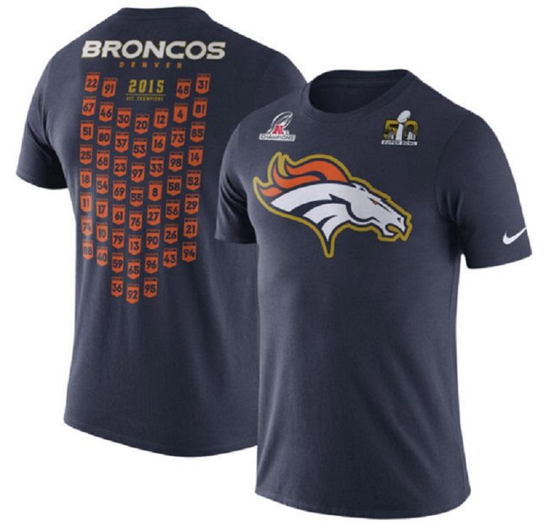 broncos super bowl 50 gear shirts