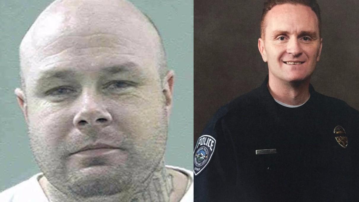 Cory Henderson, left, is accused of shooting Utah police officer Doug Barney.