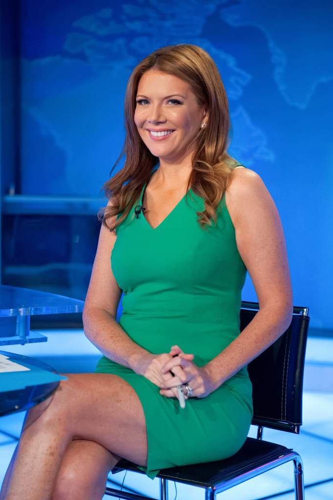 Trish Regan on the set of The Intelligence Report. (Getty)