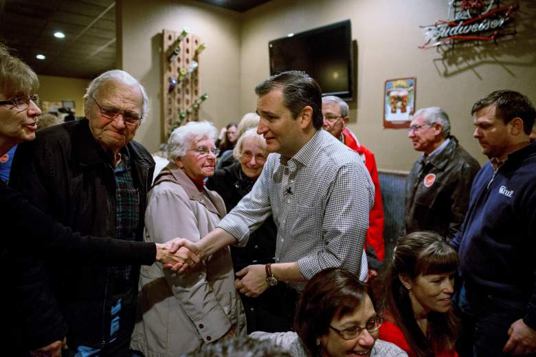 Ted Cruz campaigns in Iowa, where recent polls have him losing the lead to Donald Trump. (Getty)