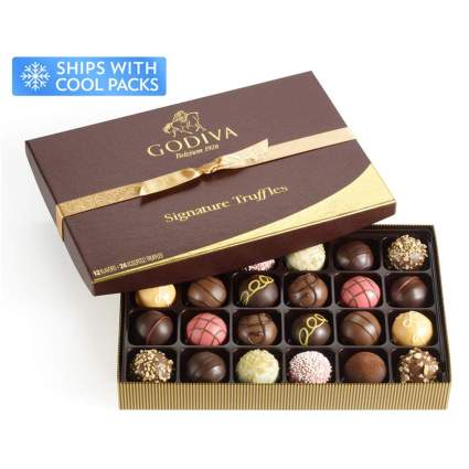 box of godiva chocolate truffles