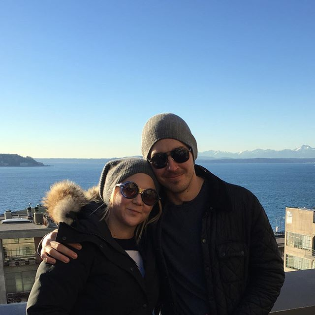 Amy Schumer with her new boyfriend, Ben Hanisch. (Instagram)