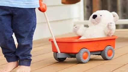 kids orange wagon