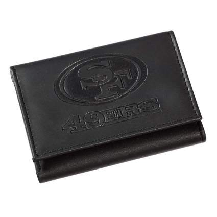 NFL embossed logo vegan leather wallet