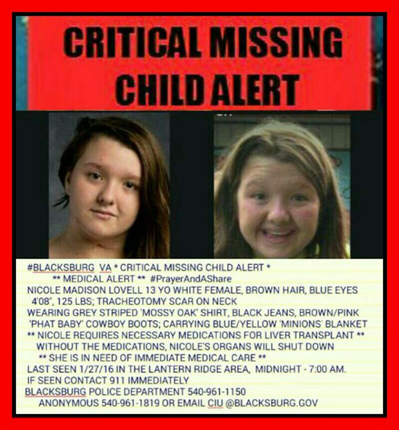 Nicole Lovell Missing