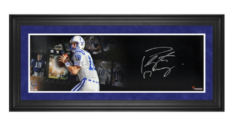peyton manning colts autographed