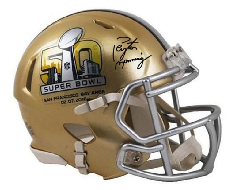 peyton manning signed helmets