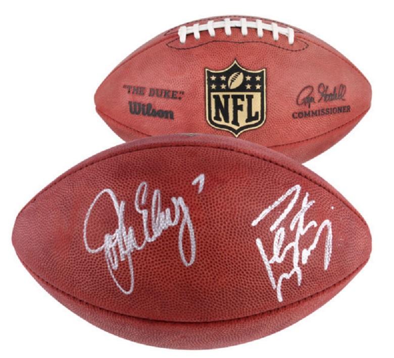 peyton manning broncos signed footballs