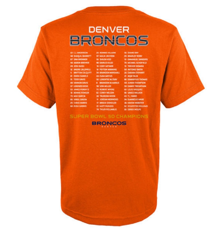 denver broncos super bowl 2016 gear shirts