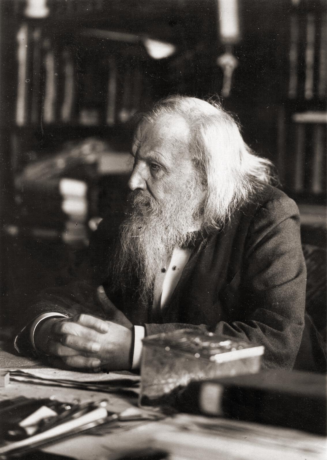 Mendeleev in 1897. (Wikpedia Commons)