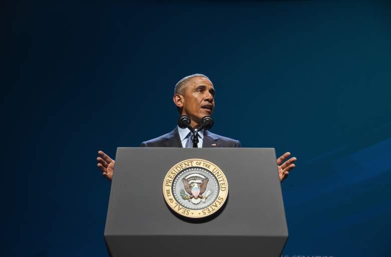 President Obama speaking in Nevada. (Getty)