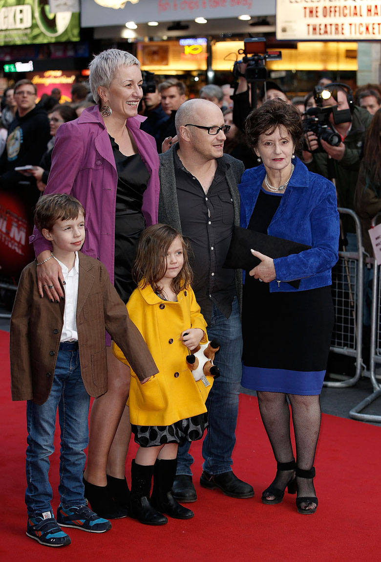 "Abrahamson and family attends a screening of ""Room"" during the BFI London Film Festival at Vue Leicester Square on October 11, 2015 in London, England. (Getty)"