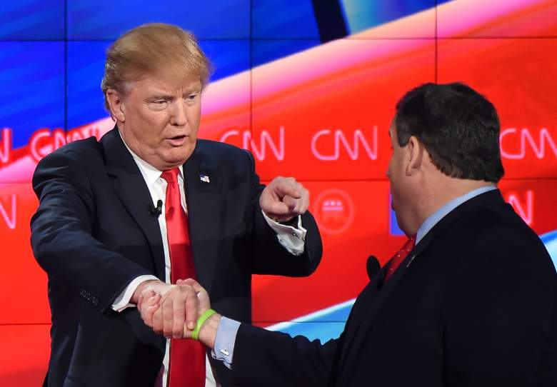 donald trump and chris christie photo