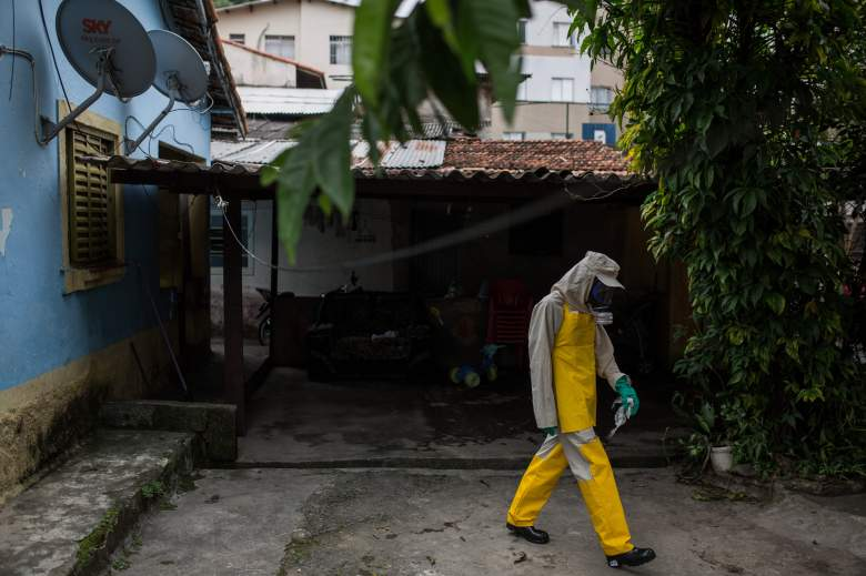 SAO PAULO, BRAZIL - JANUARY, 29: Agents working in pesticide fogging to combat the larvae of Aedes aegypti in the Butanta neighborhood. The site presents cases of mosquito bite of the Zika virus in residents on January 29, 2016 in Sao Paulo, Brazil. According to the City Department of Health, the city of Sao Paulo has not yet submitted cases of microcephaly associated with mosquito bites. Since October, Brazil has recorded 3,893 suspected cases of the birth defect - which can lead to stillbirths, as well as long-lasting developmental and health problems among survivors. (Photos by Victor Moriyama/Getty Images)