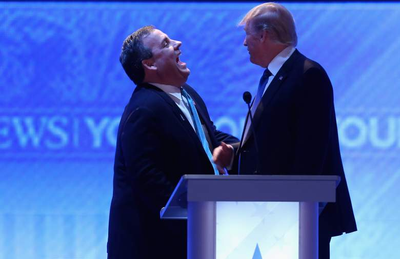 trump and christie laughing