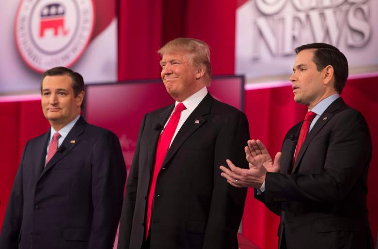 Ted Cruz and Donald Trump and Marco Rubio, nevada gop caucus, republican, history, details, polls