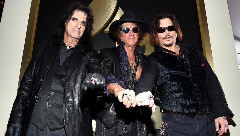 Johnny Depp, Johnny Depp Grammys 2016, Hollywood Vampires Grammys 2016 Performance, Hollywood Vampires Lemmy Tribute Performance