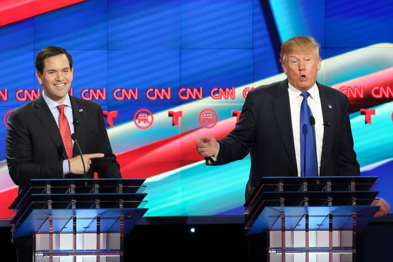 Marco Rubio and Donald Trump are two of the candidates fighting for the Republican nomination.