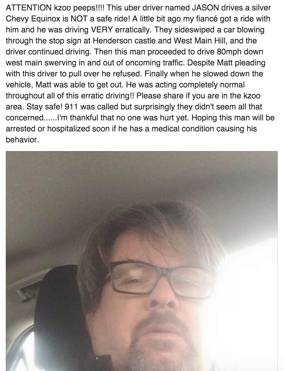 Jason Dalton uber, kalamazoo uber suspect, jason dalton kalamazoo uber