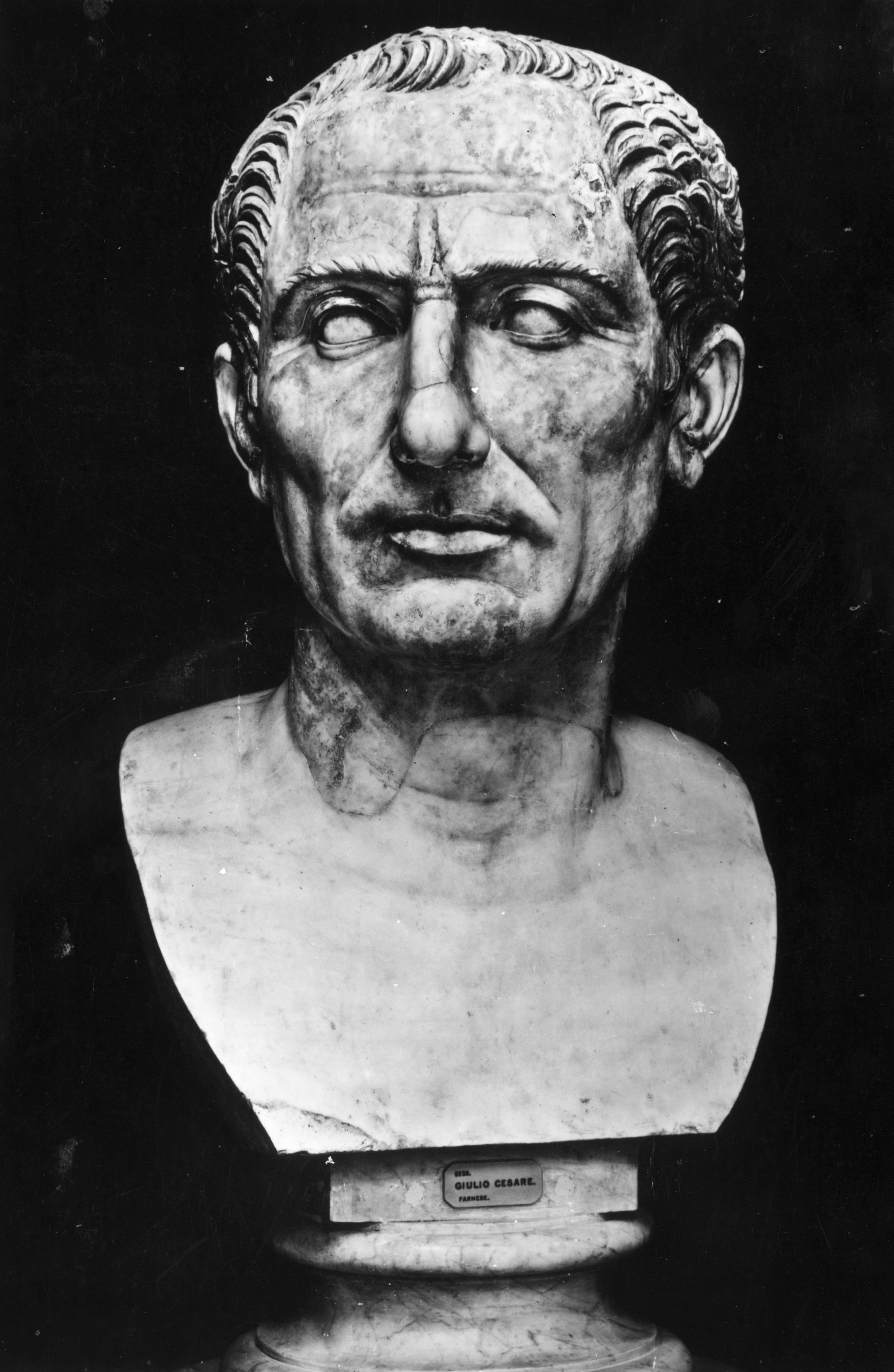 A bust of Julius Caesar. (Photo by Hulton Archive/Getty Images)