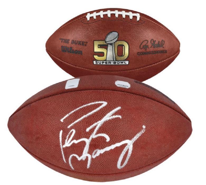 peyton manning broncos super bowl 50 signed footballs