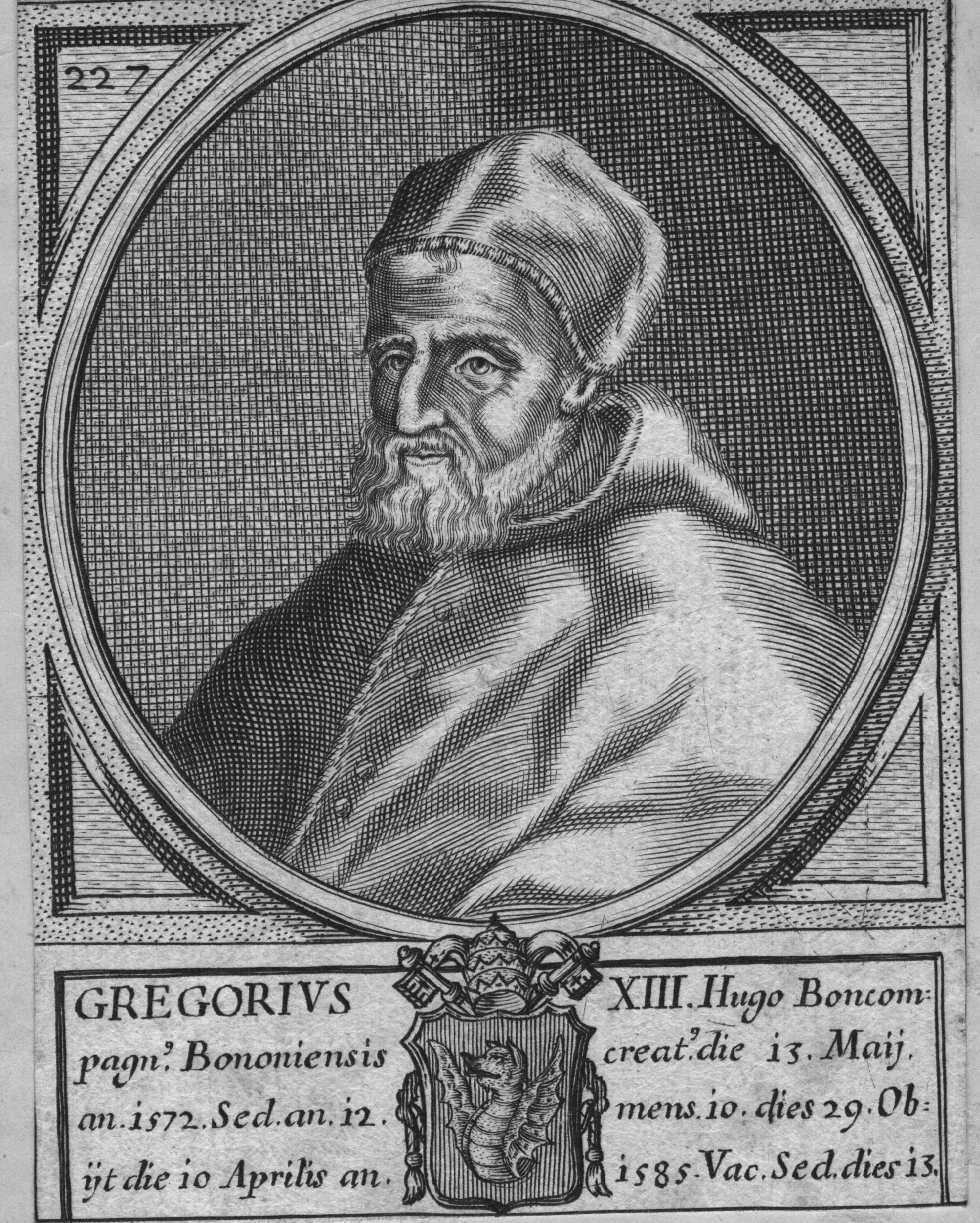 Pope Gregory XIII (1502 - 1585) who introduced the reformed Gregorian calendar. (Photo by Hulton Archive/Getty Images)