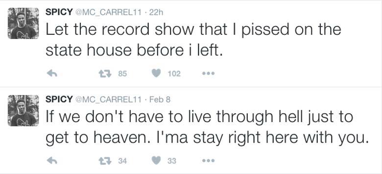 Marshawn McCarrel Twitter page