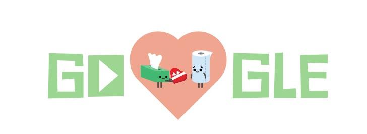 Google Doodle Code a Heart logo